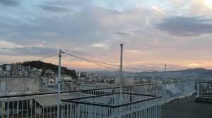 Maisemaa hostellin kattoterassilta